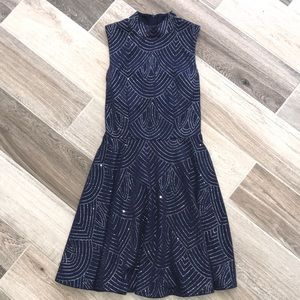 navy and Silver Party Dress! Sz 3